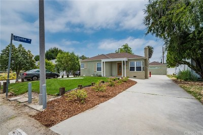 North Hollywood Single Family Home Active Under Contract: 11504 Erwin Street