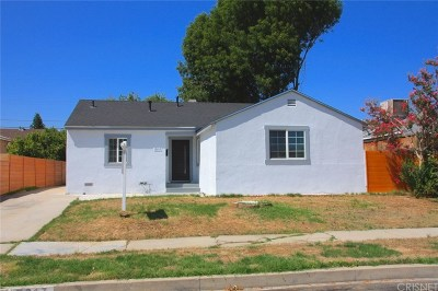 Reseda Single Family Home Active Under Contract: 19217 Lemay Street