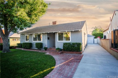 Burbank Single Family Home Active Under Contract: 2733 North Brighton Street
