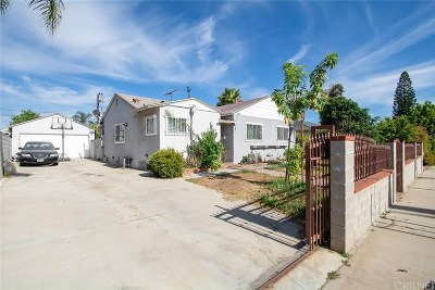 Single Family Home For Sale: 8052 Wilkinson Avenue
