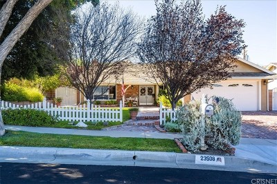 Newhall Single Family Home Active Under Contract: 23508 Adamsboro Drive