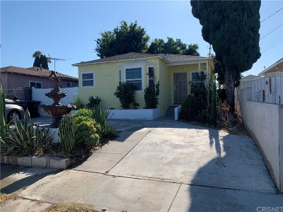 Inglewood Single Family Home For Sale: 10113 Dalerose Avenue