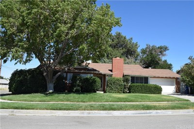 Quartz Hill Single Family Home For Sale: 41860 Shain Lane