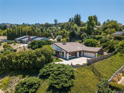 Los Angeles County Single Family Home For Sale: 21700 Mulholland Drive