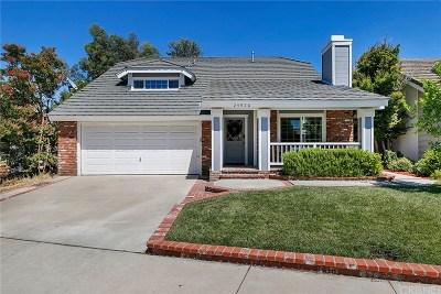 Valencia Single Family Home Active Under Contract: 25926 Mendoza Drive