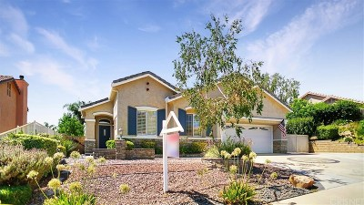 Saugus Single Family Home For Sale: 21670 Rose Canyon Lane
