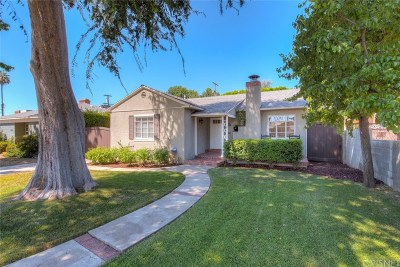 Sherman Oaks Single Family Home For Sale: 5731 Vista Del Monte Avenue