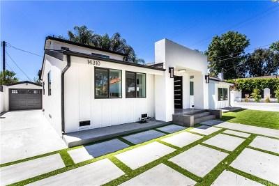 Sherman Oaks Single Family Home For Sale: 14310 Weddington Street