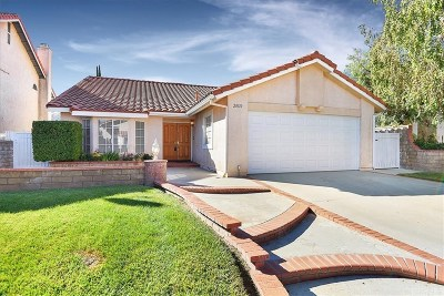 Saugus Single Family Home For Sale: 20110 Cavern Court
