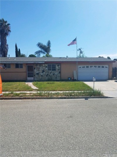 Simi Valley Single Family Home Active Under Contract: 1642 Wallace Street