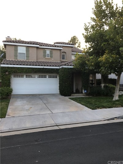 Saugus Single Family Home For Sale: 28529 Silverking