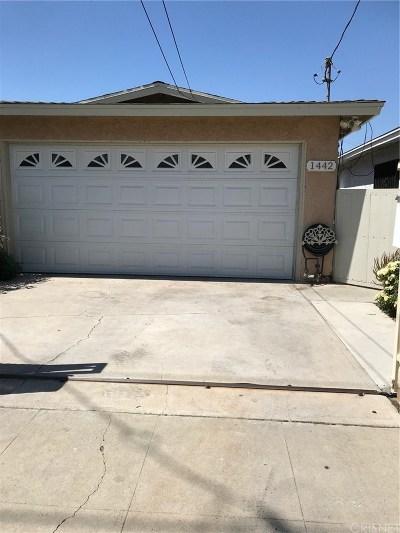 San Fernando Single Family Home For Sale: 1442 Celis Street