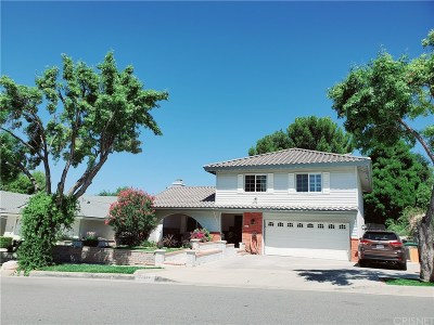 Santa Clarita, Canyon Country, Newhall, Saugus, Valencia, Castaic, Stevenson Ranch, Val Verde Single Family Home For Sale: 22304 Barbacoa Drive