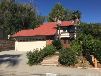 Saugus Single Family Home For Sale: 27487 Diane Marie Circle