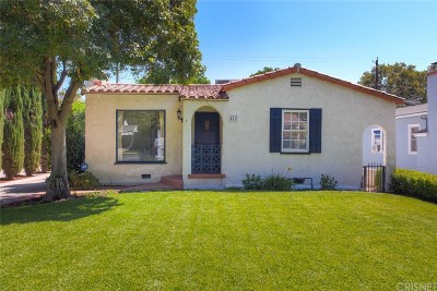 Burbank Single Family Home For Sale: 412 North Griffith Park Drive