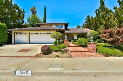Single Family Home For Sale: 4445 Henley Court