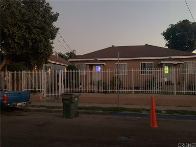 Los Angeles Single Family Home For Sale: 2314 East 117th Street