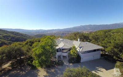 Ojai Single Family Home For Sale: 10896 Creek Road