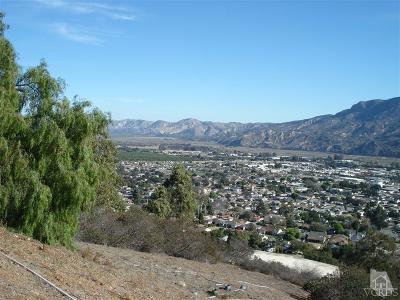 Santa Paula Residential Lots & Land For Sale: 862 Montclair Drive
