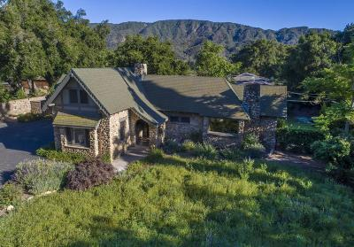 Ojai CA Single Family Home For Sale: $1,349,000