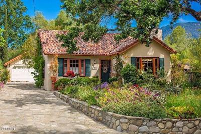 Ojai Single Family Home For Sale: 305 Topa Topa Drive