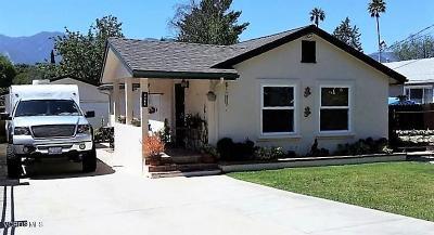 Ojai Single Family Home For Sale: 1385 Cruzero Street