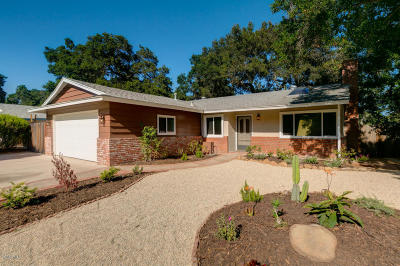 Ojai Single Family Home Active Under Contract: 1108 Granito Drive