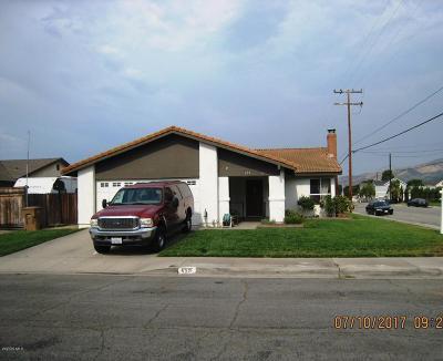 Fillmore Single Family Home Active Under Contract: 659 Manzanita Drive
