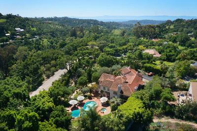 Santa Barbara Single Family Home For Sale: 1407 Tunnel Road