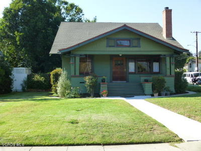 Santa Paula Single Family Home Active Under Contract: 627 E Santa Paula Street