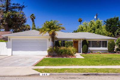 Ventura Single Family Home Active Under Contract: 369 Banner Avenue