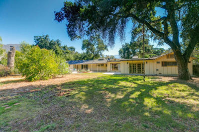 Ojai Single Family Home For Sale: 311 Palomar Road