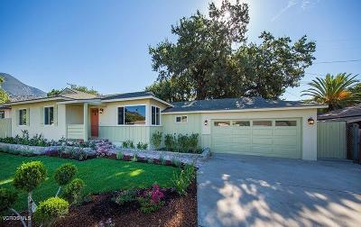 Ojai Single Family Home For Sale: 814 Grandview Avenue