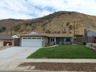 Ventura Single Family Home For Sale: 5328 Floral Drive