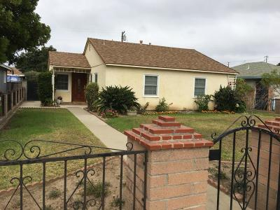 Oxnard Single Family Home For Sale: 1159 S J Street