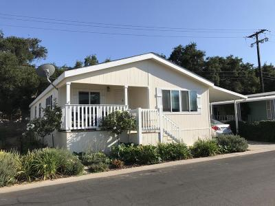 Ojai Mobile Home Active Under Contract: 950 Woodland Avenue #75