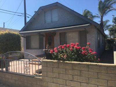 Santa Paula Single Family Home For Sale: 1219 E Ventura Street