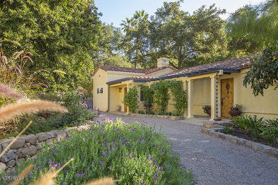 Ojai Single Family Home For Sale: 1369 Foothill Road