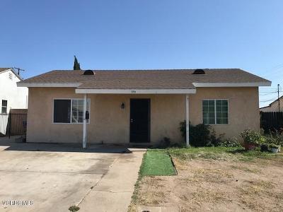 Oxnard Single Family Home For Sale: 350 W Elm Street
