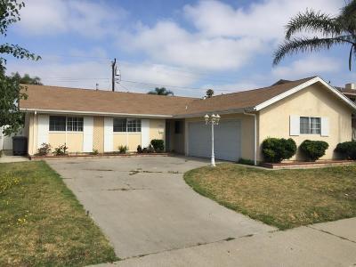 Oxnard Single Family Home Active Under Contract: 3531 San Juan Avenue