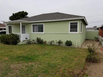 Oxnard Single Family Home For Sale: 161 W Iris Street