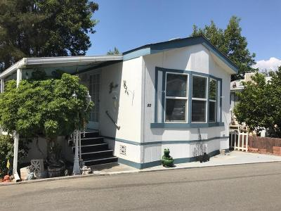 Ventura County Mobile Home Active Under Contract: 1075 Loma Drive #53