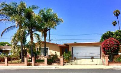 Oxnard Single Family Home Active Under Contract: 1341 Ukiah Street