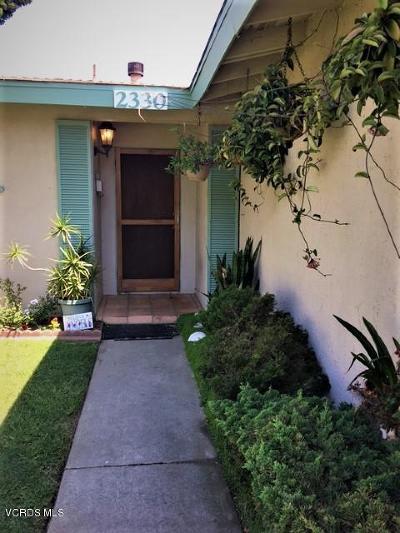 Oxnard Single Family Home Active Under Contract: 2330 Lassen Street