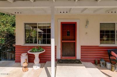 Ojai Single Family Home Active Under Contract: 214 Topa Topa Drive