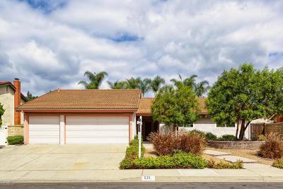 Camarillo Single Family Home Active Under Contract: 521 Corte Aguacate