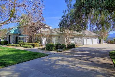 Ojai Single Family Home For Sale: 12284 Linda Flora Drive