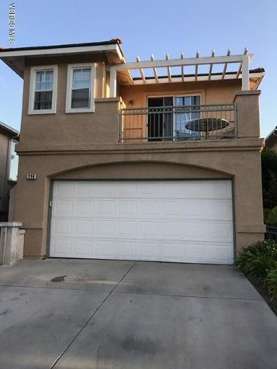 Oxnard Single Family Home For Sale: 214 Galante Way