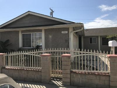 Oxnard Single Family Home For Sale: 1542 Morris Street
