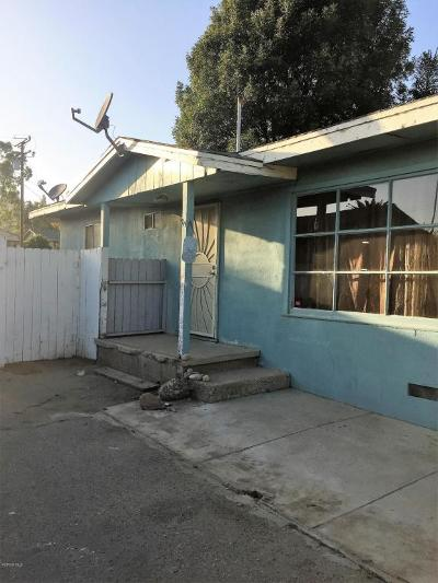 Ventura Single Family Home For Sale: 637 Sheridan Way